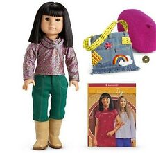 American Girl Asian Doll Ivy Ling & Accessories & Book Julie's Friend NEW