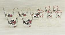 New ListingVintage Libbey Barware Set 5 Rocks & 5 Aperitif Shot Glasses Horse & Carriage