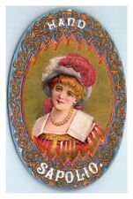 Hand Sapolio Soap, Enoch Morgan's Sons Co. Best Toilet and Bath Soap Ad Card