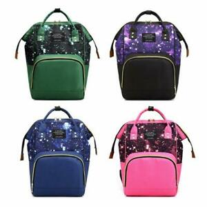 Maternity Nappy Bag/Backpack Large Baby Nursing Handbag UK - Galaxy Print