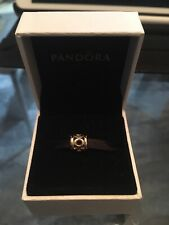 """Rare New PANDORA 14K Gold """"LINK CHARM"""" 750223 AUTHENTIC/ RETIRED ALE"""