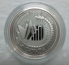 1999 CANADA 25¢ DECEMBER MILLENIUM SERIES STERLING SILVER PROOF QUARTER