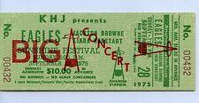 Eagles, Jackson Browne, & Linda Ronstadt 9/28/75 Vintage Unused Concert Ticket