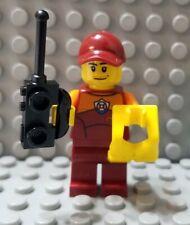 LEGO New City Coast Guard Rescue Minifigure Radio Life Vest Dark Red Cap