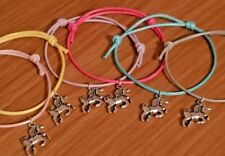 6 x Unicorn Friendship Bracelets Girls Birthday Party Gift Loot Bag