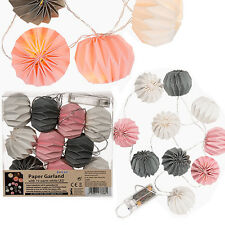 10 LED 1.5M INDOOR BATTERY CHINESE PAPER LANTERN FAIRY STRING WIRE LIGHTS DECOR