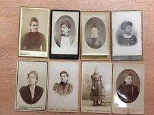 lot de 8 Carte de visite cdv photo ancienne albumine jeune femme demoiselle !!!