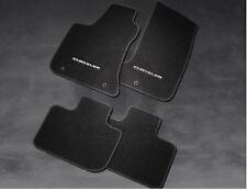 15-18 Chrysler 300 RWD Black Premium Carpet Mats With Chrysler Logo Set of 4