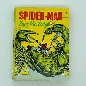 Vtg 1976 Spider-Man Zaps Mr. Zodiac Big Little Book Whitmans Miniature Paperback