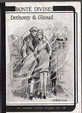 Bonté Divine n°1. Fanzine bd. DETHOREY & GIROUD. Complet 1983. TBE