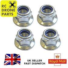 4pcs Wheel Nuts 1/10 RC Car Lock Nyloc Flanged Fits Shumacher Kyosho Hpi Tamiya