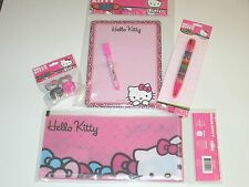 (New) Hello Kitty by Sanrio Stationary Set & Stamps ( go back to school )