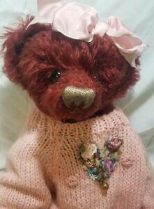 "Barbara Cardwell ""Henrietta"" OOAK 16"" Growler mohair artist teddy Honey Cup"