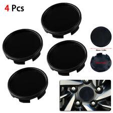 Replacement 4pcs 58mm Universal Car ABS Black Wheel Rim Center Hub Caps Cover