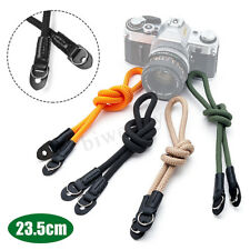 Universal Camera Wrist Strap Handmade Grip Rope Leather Silky Cord Adjustable
