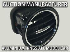 Vauxhall Opel Corsa D 06-14 Chrome Air Vents Surrounds Alloy Trim Rings 4pcs