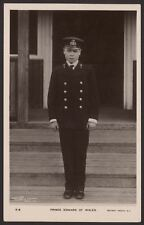 H.R.H. Prince Edward of Wales in Naval Uniform, Photo by Hughes & Mullins, I.O.W