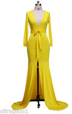BRIGHT YELLOW LYCRA GOWN/DRESS/COSTUME/DRAG QUEEN/ 12-18 (Maybe 20) TALL/X-LONG