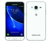 BRAND NEW SAMSUNG GALAXY J3 6 8GB 4G SMARTPHONE WHITE UNLOCK 2016 MODEL