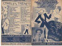 Ancienne Partition Charles Trenet la Polka du Roi 1938