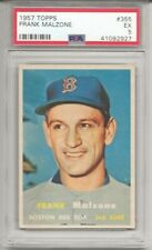1957 Topps #355 FRANK MALZONE, PSA 5 EX,  BOSTON RED SOX, L@@K !
