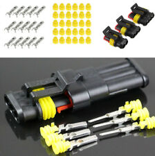 15 Sets Auto Car 2 3 4 Pin Male Female Sealed Electrical Wire Connector Plug Kit
