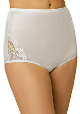 Vanity Fair Perfectly Yours Lace Nouveau Full-Cut White Brief 5/Small
