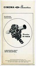 "Vintage Brochure: BEAULIEU ""R-16ES"" 16mm Electric ""Lip-Sync"" Camera"