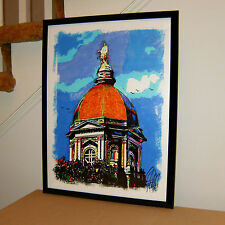 University of Notre Dame Dome Architecture Poster Print Wall Art 18x24