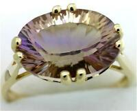 Natural 5.35ct Ametrine 9K 9ct 375 Solid Gold Unique Ring Full Solid Gold Real