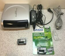 CASIO CW-100 CD DVD DISC TITLE PRINTER & INK RIBBONS COMPLETE WORKING MUST READ