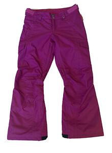 BURTON Cargo Elite Plum Purple Ski Snow Pants Girl's Sz M 10 12 Room to Grow $99
