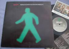 SPLIFF Herzlichen Gluckwunsch GERMANY LP + INNER + POSTCARD SYNTH POP KRAUTROCK