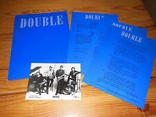DOUBLE - BLUE (KURT MALOO) / PRESSE-PROMO-MAPPE 1985 INCL. PHOTO & INFO-FACTS