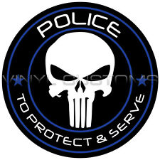 "2"" Punisher Police Vinyl Decal Sticker"