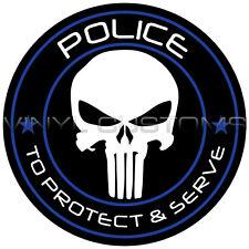 """2"""" Punisher Police Vinyl Decal Sticker"""