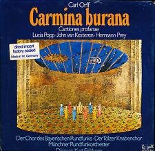 Orff Carmina Burana Popp Prey Münchner Orch Eichhorn Eurodisc 86827 MK in shrink