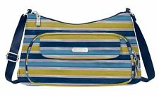 Baggallini Everyday Crossbody Bag in Tropical Stripe w/Fuchsia Lining (SALE!)