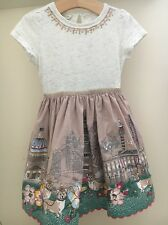 Monsoon Girls Pretty London Corgi Print Embellished Party Dress Age 3-4 Years