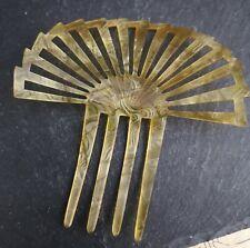 Antique Victorian mantilla comb, celluloid hair comb