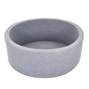New Soft Play Baby Ball Pit Foam padding Pool 90x30cm Light Grey UK