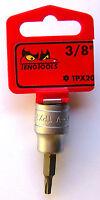"Chrome Vanadium Teng Tools M121245-C1//2/"" Drive TPX45 TPX Socket Bit"