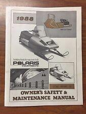 OEM 1988 Polaris Star Sprint ES Owners safety maintenance manual very nice cond