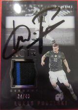 Podolski # signiert # Panini NOIR duo jersey Trikot Card 34/49 Germany DFB RAR