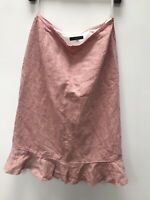 Coast Pink Linen Silk Skirt Size 10