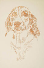 Foxhound Dog Art Signed Magic Drawing #18 Kline adds your dogs name free. Gift