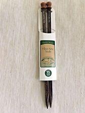 Exotic Wood 4-Sided 10mm Knitting Needles, Size 15, Sustainable Wood - New