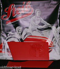 Steib, tr500, interno rivestimento laterale, BW, carrozzetta, sidecar, Rosso