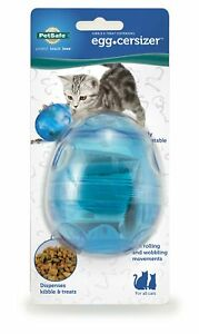Cat Puzzle Toy IQ Treat Ball Pet Fun Mental Food Dispenser Interactive Play Blue