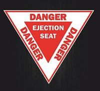 Sticker decal airplane aircraft airport helicopter danger ejection seat